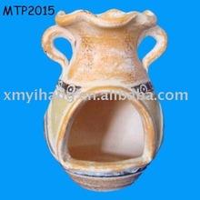 terracotta mini chimenea