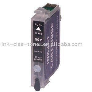 Recargable T0711 cartucho de tinta para EPSON STYLUSD78 / DX4000 / DX4050 / DX5000 / DX5050 / DX6000 / DX6050 / DX7000F / DX4400 / DX8450 DX9400F / DX840