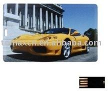 car logo card shape USB flash