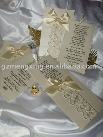 See larger image Chic Wedding Invitations With LaceEA907