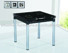 2012 new style tempered glass dining table