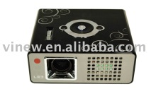 Mini Projector, 1024*768 Resolution, 170 Lumens, With HDMI, TV, AV, VGA, USB, SD Inputs