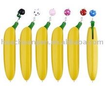 novelty personalized pens for promotion as banana,banana pens,banana shaped pens