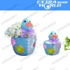 terracotta flower pot,easter,duck animal,