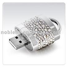 luxury jewelry lock usb flash drive
