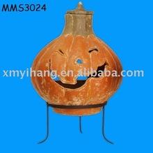 terracotta smiling pumpkin chimenea