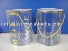 PVC Clear Paint Cans wth Handles