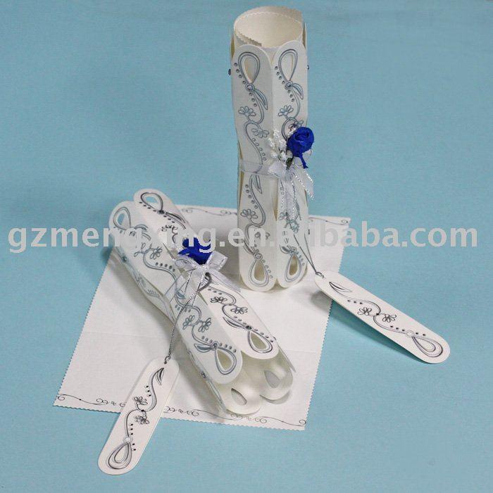 See larger image Elegant Scroll Wedding InvitationsT191