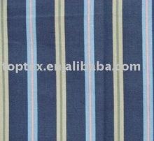 cotton polyester yarn dyed stripe fabric