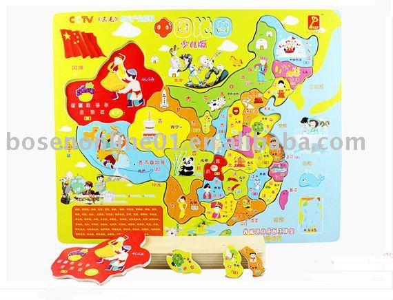 china map for kids. children#39;s map)(China