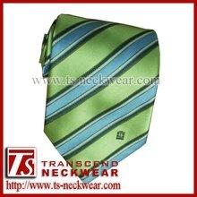 Striped Necktie with Custom Logo on Tip