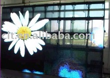 Transparent LED curtain of P16 SMD 3IN1 Outdoor LED strip curtain screen