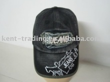 Washed cotton cap with embroidery logo in the middle