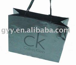 Fashion clothing paper shopping bag with gloss lamination