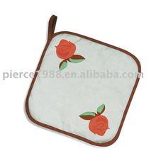 Christmas promotion gift & heat-proof kitchen cotton rose pot holder