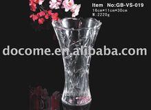 VS-019 lead free glass cheap flower vases