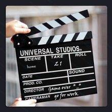 2015 Hot item Clapper baord Film Slate Director Notice Board Blackboard For Fun Movie Video Making & Decoration
