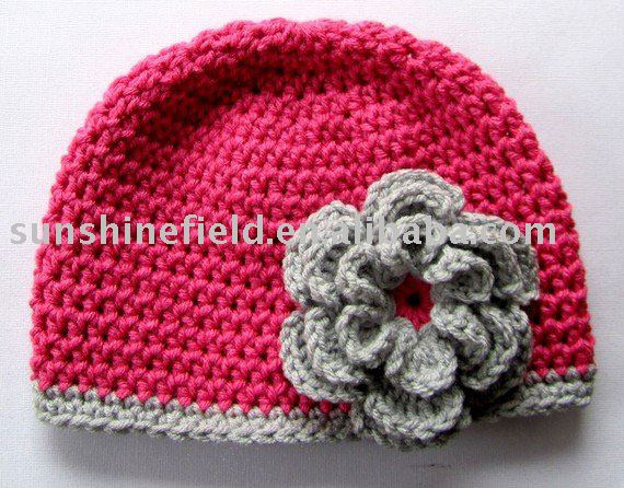 Free Crochet Flower Patterns For Baby Hats : Free Easy Crochet Baby Hat Pattern With Crochet Flower ...