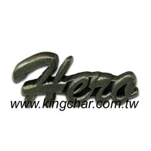 Pewter Badge Lapel Pin Emblem, with antique finish