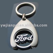 Promotional trolley coin keychain with logo