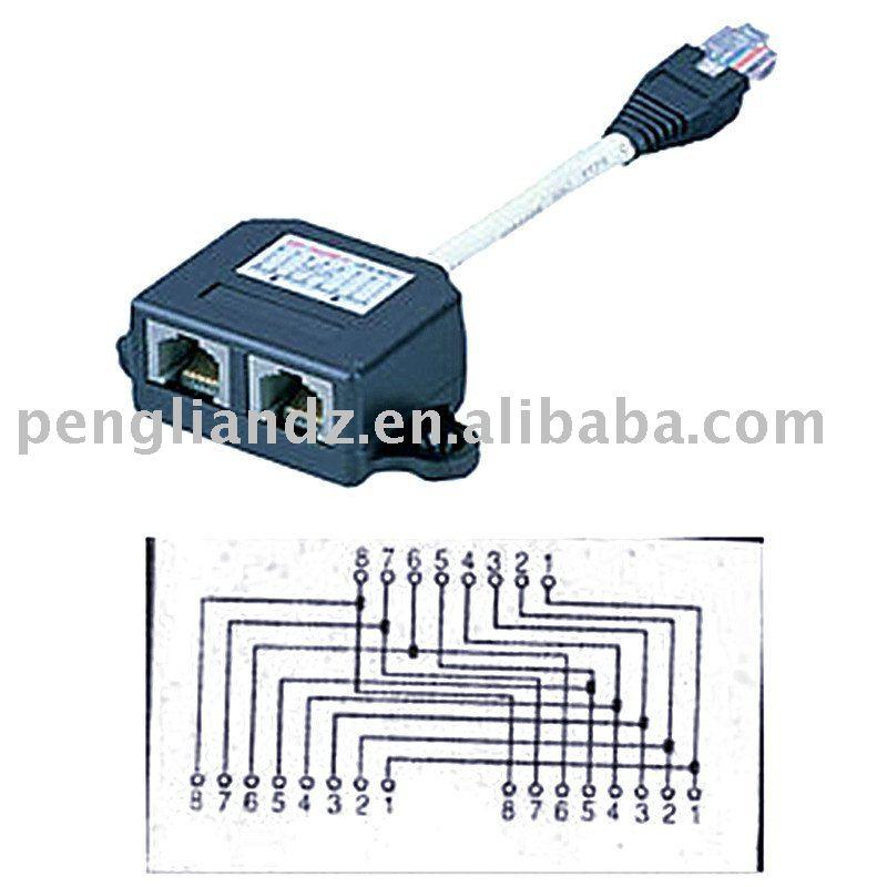 Сетевой кабель сплиттер разъем rj45
