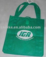 green color non woven promotional bag