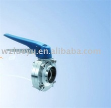 Sanitary Welded Butterfly Valve food (with Plastic Multiposition Handle)