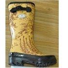 natural rubber fashion ladies rain boots