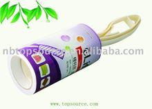 Green handle lint roller