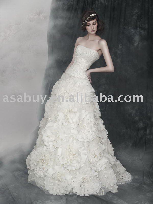 fall wedding dresses 2011 Newest style Delicate Wedding dressLB3401