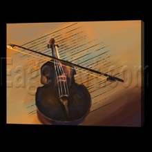 Hand painted musical instrument oil painting (Buy Directly)