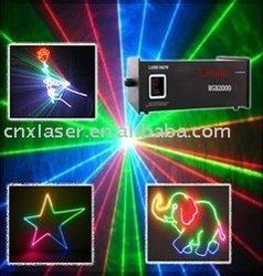 2W RGB full color Animation laser light