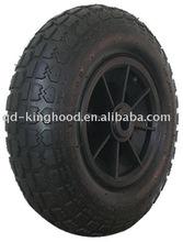 "Pneumatic rubber wheel 11"" x4.10/3.50-6 plastic centre"