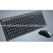 105keys + 9 multimedia keys 2.4g wireless mouse keyboard combos