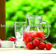 5PCS GLASS DRINKING SET, WATER JUG AND CUPS