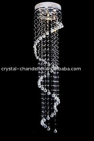 6 Light Curved Iron and Crystal Chandelier | Overstock.com