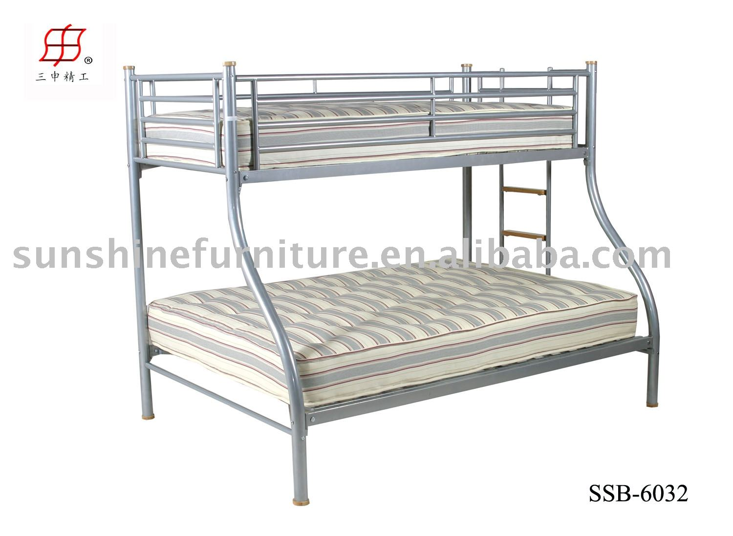 Metal Frame Double Queen Bunk Bed Detailed about