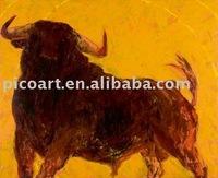 Handmade thick textured canvas art animal painting