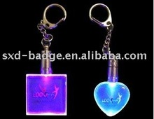 promotional light keychain/key ring with different customized design