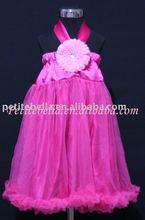 Hot Pink Style Hot Pink Chiffon Pettidress,One Piece Dress MAP84