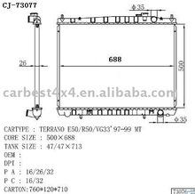 AUTO RADIATOR FOR TERRANO E50/R50/VG33' 97-99 MT