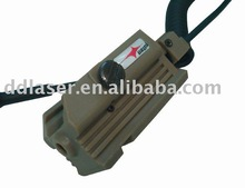 pistol rail mounted laser sight, green laser sights, rifle lasers, hunting laser device