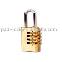 4 digitals resettable Brass combination lock