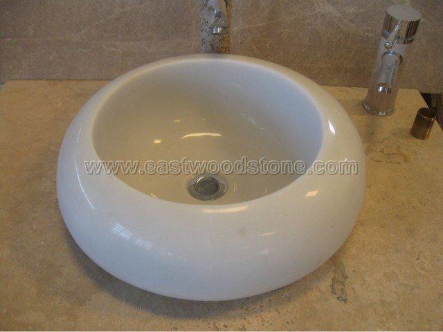 Lavabos Para Baño De Marmol:lavabos de mármol blancos del cuarto de baño del jade-Fregaderos de