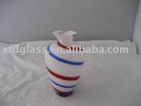 mouth blown handmade mini glass flower pot