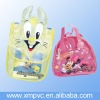 Backpack style of pvc handle packing for jelly,toy D-HB153