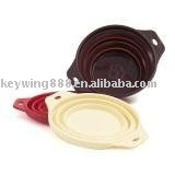 collapsible silicone dog bowl for feeding