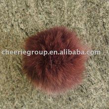 8CM-12CM diameter Fox/Rabbit fur ball (Fox or rabbit fur pompoms)