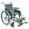Standard Width Self-propelled Powdered Steel Wheelchair with Fixed Back