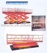 Stationary hydraulic lift tabel